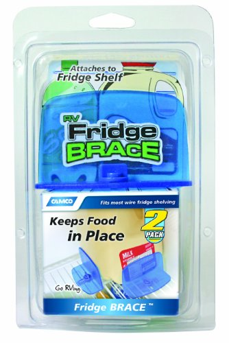 Camco RV Fridge Brace -Holds Food and Drinks in Place During...