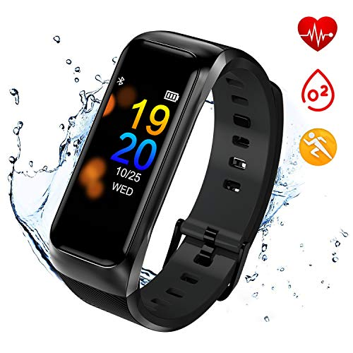 I-SWIM Fitness Tracker Waterproof,Iswim Activity Tracker with Heart Rate Blood Pressure Monitor, Color Screen Smart Bracelet with Sleep Tracking Calorie Counter, Pedometer Watch for Kids Women Men