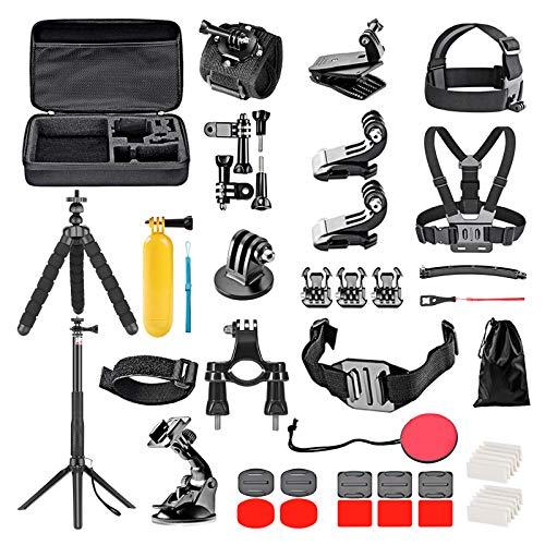 Neewer Kit accessori per action cam 50 in 1 aggiornato compatibile con GoPro Hero 10 9 8 Max 7 6 5 4 Black GoPro 2018 Session Fusion Silver White Insta360 DJI AKASO APEMAN Campark SJCAM Action Camera