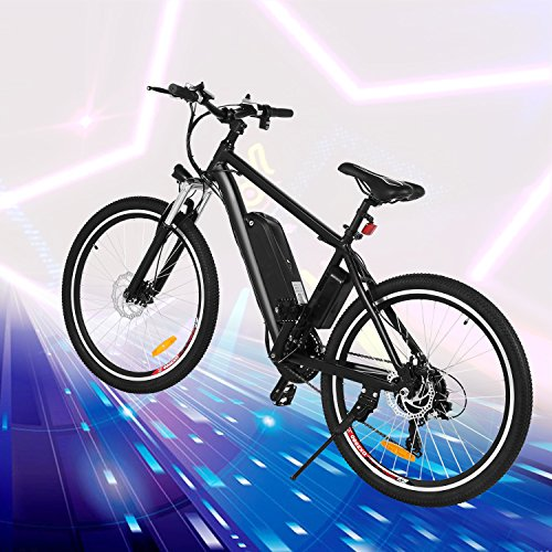 Product Image 7: Kemanner 26 inch Electric Mountain Bike 21 Speed 36V 8A Lithium Battery Electric Bicycle for Adult (Black) (Black)