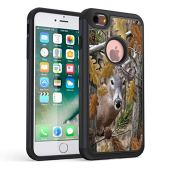 iPhone 6S Case,iPhone 6 Case,Rossy Heavy Duty Hybrid TPU Plastic Dual Layer Armor Defender Protection Case Cover for Apple iPhone 6/6s 4.7 inch,Forest Deer Hunting Leaves