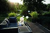 8 seasons design   Deko Leuchtkugel Shining Globe (E27, Ø 50 cm groß, matt, IP44 wetterfest, Indoor & Outdoor, Kugel, Gartendekoration, Beleuchtung) weiß - 7