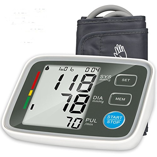 Blood Pressure Monitor AbeTammy Upper Arm BP Monitor with Automatic Digital Blood Pressure Cuff (Gray)