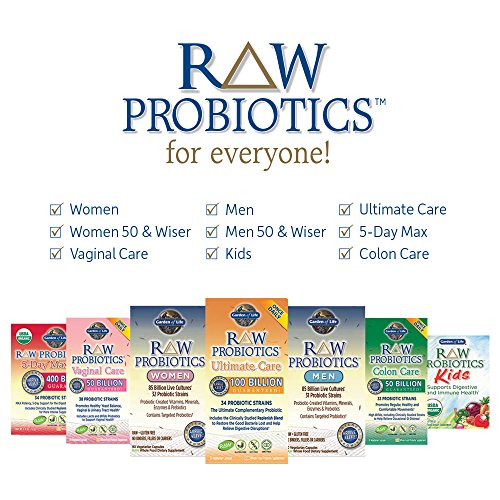 Garden of Life - RAW Probiotics Ultimate Care - Acidophilus and Bifidobacteria Live Culture Probiotic - Gluten, Soy, and GMO-Free - 30 Vegetarian Capsules (Shipped Cold) 9