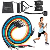 11pcs Resistance Band Set for Legs, Hips, Back, arms, Shoulders-Home Fitness Equipment (Set A)