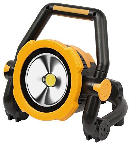 Brennenstuhl Mobile Akku LED-Leuchte / LED Strahler mit Akku (Außenleuchte 30 Watt, Baustrahler IP54, Fluter Tageslicht) schwarz/gelb