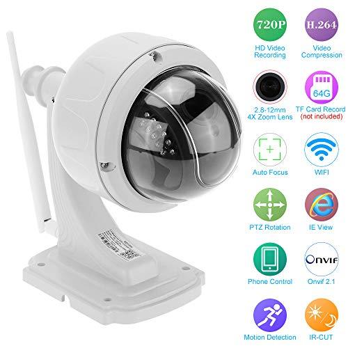 KKmoon Telecamera Sorveglianza,3.5 Pollici H.264 HD 1080P 2.8-12mm Auto-Focus PTZ Wireless WiFi IP Camera Security CCTV Camera Home Surveillance