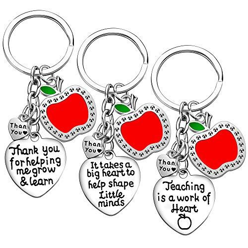 Teacher Appreciation Gift for Women, 3PCs Teacher Keychain...