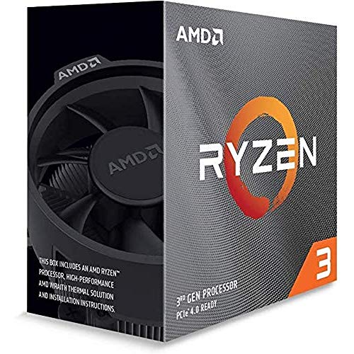 AMD Ryzen 3 3100, with Wraith Stealth cooler 3.6GHz 4コア / 8スレッド 65W【国内正規代理店品】100-100...