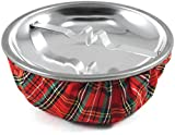 Red Plaid Sandbag Cigarette Ashtray