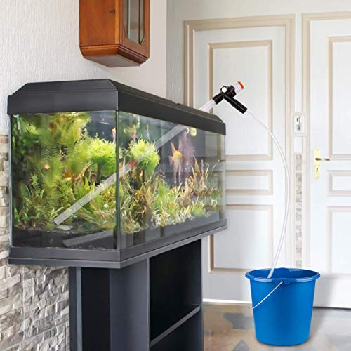 Fish Food Supplies   Allnice Fish Tank Cleaner Aquarium Gravel Cleaner Water Changer Gravel Filter Siphon Vacuum Pump Water Changing Sand Washing Adjustable Water Flow with Inbuilt Strainer Outlet Valve Pumping Airbag, Gym exercise ab workouts - shap2.com