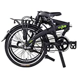 "Dahon VYBE I3 Folding Bike, Lightweight Aluminium Frame 3-Speed Shimano Gears 20"" Foldable Bicycle for Adults, Black"