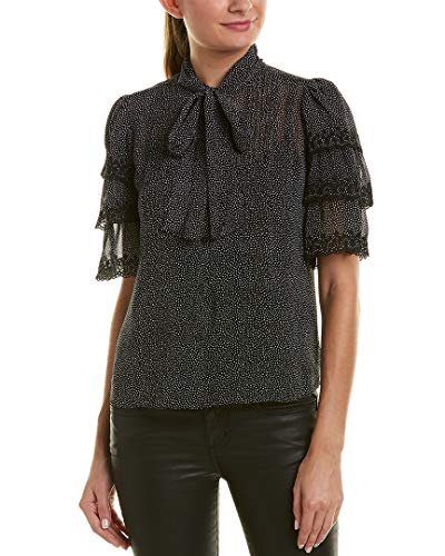 51Ln2dgiDSL. SL500 Tie-neck detail Silk chiffon Hits at low hip. 24.25 inches from high point shoulder