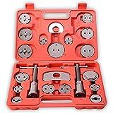 TRESKO® Reposicionador de pistones de freno 22 piezas para reposicionar el pistón de freno al cambiar los discos, las zapatas o las pastillas de freno, set de herramientas para vehículos