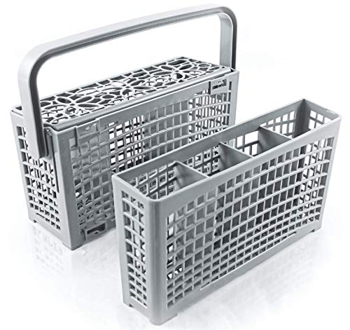 Cestello posate lavastoviglie ORIGINALE di Plemont [23x8,5 & 4,5x13,5cm] Cestello lavastoviglie con linnovativa soluzione 2 in 1 porta posate lavastoviglie in plastica resistente