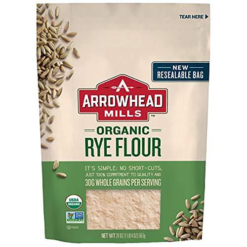 Arrowhead Mills Organic Rye Flour, 20 oz. Bag (Pack of 6)