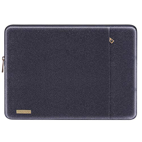 MOSISO Laptop Sleeve Compatible with 13-13.3 Inch MacBook Air/MacBook Pro Retina/2019 Suface Laptop 3/Surface Book 2, PU Leather Vertical Style Padded Bag Waterproof Case, Space Gray