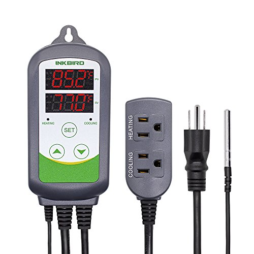 Inkbird ITC-308 Digital Temperature Controller 2-Stage Outlet Thermostat Heating and Cooling Mode