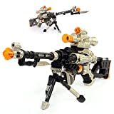 LilPals' 28 Inch Rapid Fire Snow Leopard Sniper Rifle Toy Gun - with Dazzling Light, Amazing Sound & Unique Action