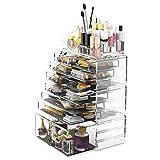 READAEER Organizador de Maquillaje con 12 Niveles Ajustables, Caja de Almacenamiento Multi-Funcional...