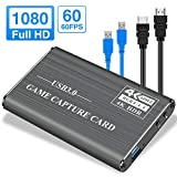 PANMAX Audio Video Capture Card, HDMI to USB3.0 4K Full HD 1080P 60fps for PS4, Xbox One & Xbox 360 Game Streaming Live Broadcasting(Gray)