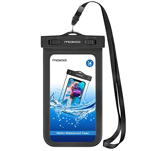 5.7 Inch Waterproof Case, MoKo Universal Cellphone Dry Bag With Armband & Neck Strap
