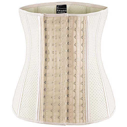 ECOWALSON Waist Trainer for Women Corset Cinher Body Shaper with Steel Bones and Extender 1