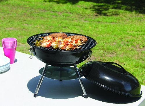 Product Image 3: Texsport Barbecue Mini Portable Charcoal BBQ Grill, Black