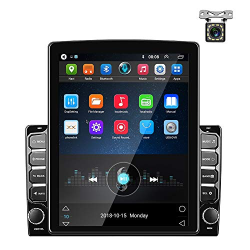 Autoradio Android GPS 2 Din 9,7 pollici Touch screen verticale Bluetooth WIFI USB FM Radio Car Player Stereo Mirror Link + Telecamera Posteriore