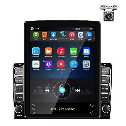 Autoradio Android GPS 2 Din 9,7 Ppouces Écran Tactile Vertical Bluetooth WiFi USB Radio FM Lecteur de Voiture Lien Miroir Stéréo + Caméra Arrière