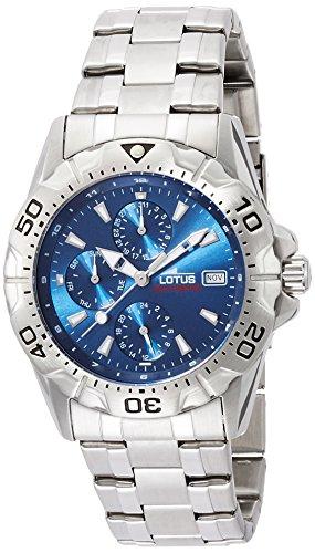 Lotus Herren Chronograph Quarz Uhr mit Edelstahl Armband 15301/2