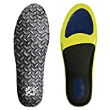 Mens Insole for Work Boots. Extra Cushion Insole with Flexible Support. Adaptive Arch and Gel Insert (Diamond Plate, US 12.5-14 / EU 45-47)