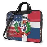Escudo de la República Dominicana Bolso para portátil Bolso Bandolera Bolso para Ordenador Maletín Bolso Bandolera Inclinado