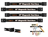 Vanitek 4 Heavy-Duty 12' Magnetic Tool Holder Racks | Super Strong Metal Magnet Storage Tool Organizer Bars Set | Great for Garage/Workshops (Mounting Screws Included)