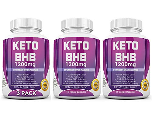 Keto Diet Pills - (1200mg 90 Day Supply) Weight Loss Fat Burner for Women & Men, Exogenous Ketones Supplement Boost 1