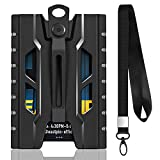 Badge Holder Wallet- Durable ID Card Holder with Heavy Duty Breakaway Lanyard, Metal Clip for Offices ID, School ID, Driver Licence, Wallet, Holds 1-4 Cards (Black)