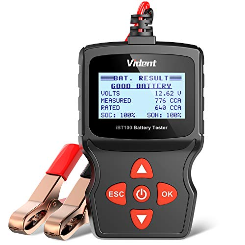 VIDENT iBT100 Car Battery Tester 12V Battery Analyzer for Flooded, AGM,Gel 100-1100 CCA Automotive...