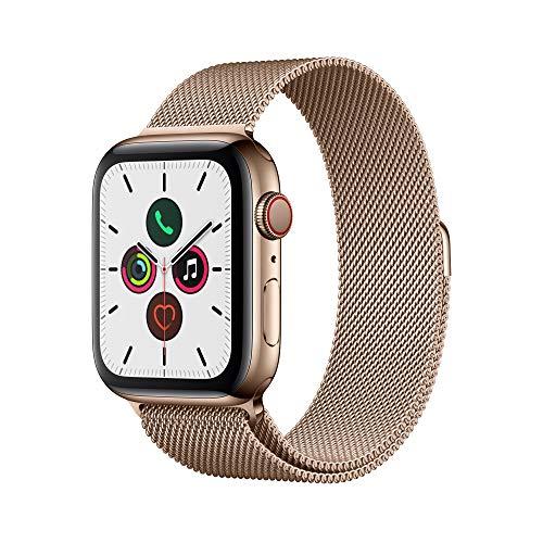 Apple Watch Series 5(GPS + Cellularモデル)- 44mmゴールドステンレススチールケースとゴールドミラネーゼ...