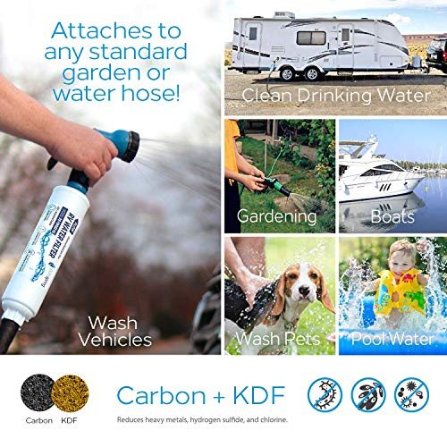 Product Image 7: PureSpring RV Inline Water Filter with Flexible Hose Protector for RV's, Campers, Motor Homes, Boats, Pets, Automobile/Car Washing