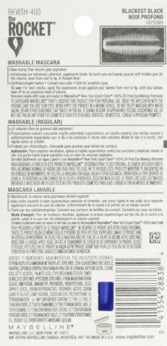 Product Image 3: Maybelline New York Volum' Express The Rocket Washable Mascara, Blackest Black, 0.3 fl. oz.