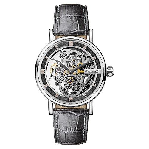 Ingersoll Herren Analog Automatik Uhr mit Leder Armband I00402