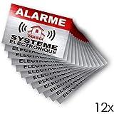 Autocollant alarme système électronique logo 771 logo 2 apparence Inox...