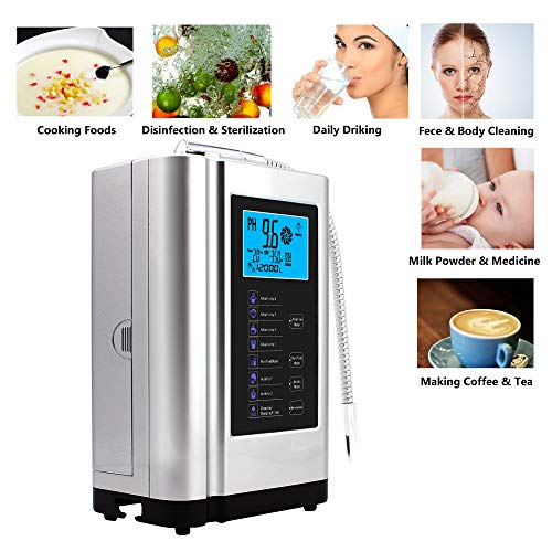 Product Image 5: AlkaDrops Water Ionizer, Water Purifier Machine PH 3.5-10.5 Alkaline Acid Water Machine,Up to -500mV ORP, 6000 Liters Per Filter,7 Water Settings,Auto-Cleaning,Intelligent Voice(silver)
