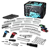 DURATECH 497-Piece Mechanics Tool Set, Include SAE/Metric Sockets, 90-Tooth Ratchet and Wrench Set in 3 Drawer Tool Box