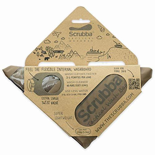 Scrubba Wash Bag 2.0 Tattica Sacchetto Lavatrice Portatile Borsa Sacco Resistente per Lavare...
