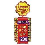Chupa Chups - Roue de 200 Sucettes - Sucettes à la Pulpe de Fruits +...