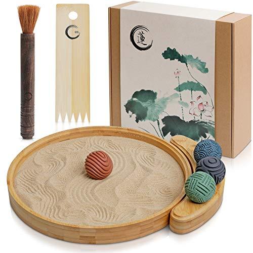 Japanese Zen Garden Kit for Desk - Sand Garden Tools and Accessories...