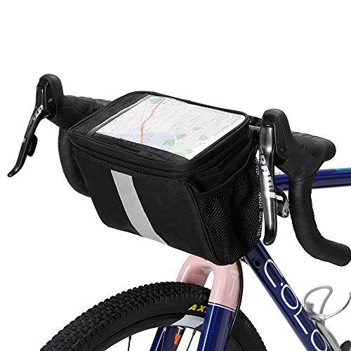 Bicycle Handlebar Insulated Cooler Bag Cycling MTB Mountain Road Bike Front Basket Pannier Bag