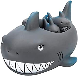 Playmaker Toys Rubber Shark Family Bathtub Pals – Floating Bath Tub Toy