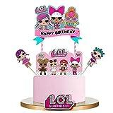 LOL joyeux anniversaire Cake Topper Cupcake Picks Cartoon Gâteau Décoration Enfants Filles Fête D'anniversaire Fournitures 5 pcs